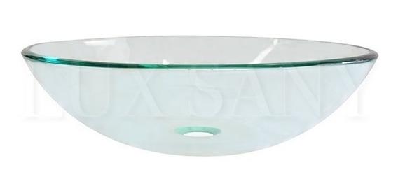Lux Sany Ovalin-01 Ovalin Cristal Transparente Biselado 42cm