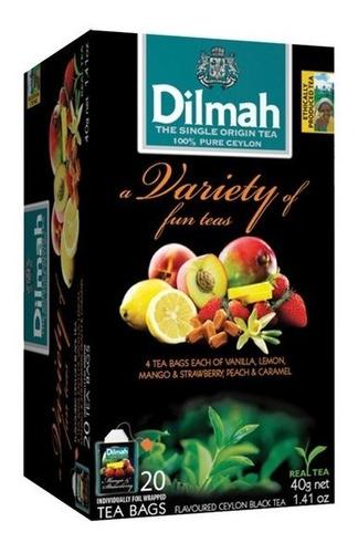 Té Pack Frutal 5 Sabores Dilmah Importado Sri Lanka 20 U.