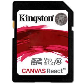 Cartão De Memória Kingston Sd Canvas React U3 C10 4k 100mbs