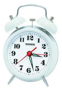 Despertador Doble Campana De Cuerda Blanco Al/8023b
