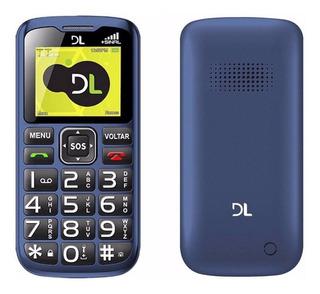 Celular Dl Yc120 Dual Chip Tecla Sos Conexão Antena Rural