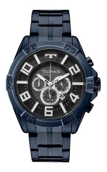 Relógio Masculino Technos Os2abh/4a Legacy Cronógrafo Azul