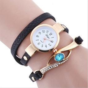 Relógio Feminino Pulso Cristal Quartzo Diamante - Preto