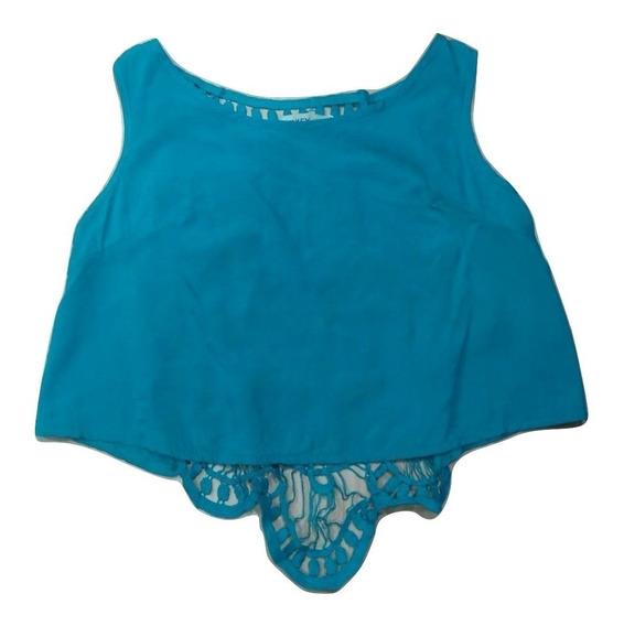 Blusa Cropped Top Renda Croche Saida De Praia Panicat