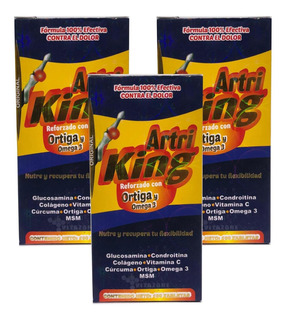 Artriking Glucosamina 100 Tabs Ortiga Omega 3 (3pzs)