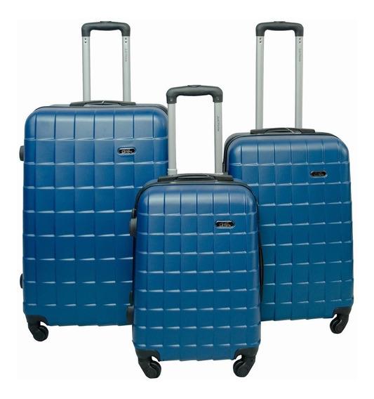 Maleta Viaje Set 3 Maletas Rigidas Ruedas Azul