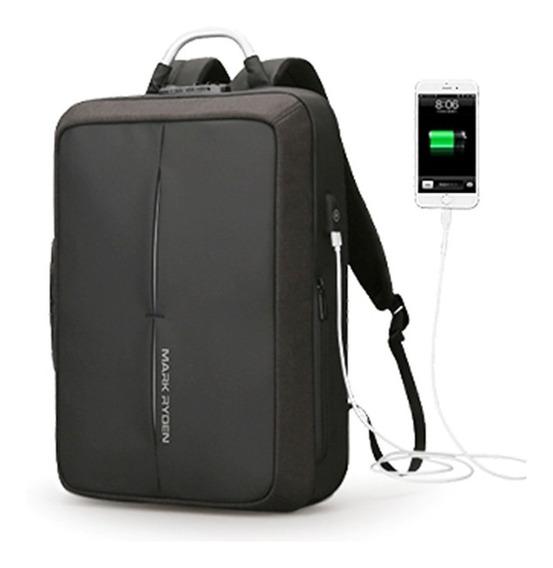 Mochila Antirobo Backpack Portafolio Combinacion Mark Ryden