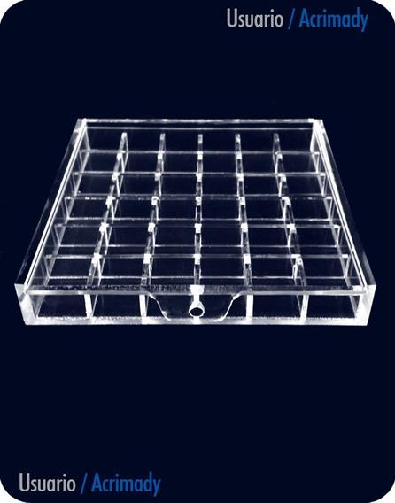 Caja Broquel En Acrílico De 3mm (36 Divisiones)