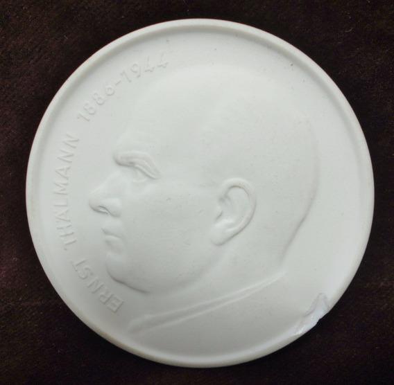Meissen Porcelana Medallon E. Thalmann Alemania Oriental