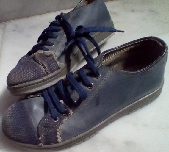 Zapatillas Azules C/cordon 33/34 Barracas Palermo Recolel