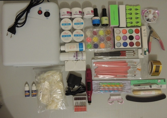 Kit Unhas Gel, Acrygel, Porcelana Cabine / Estufa - 220v