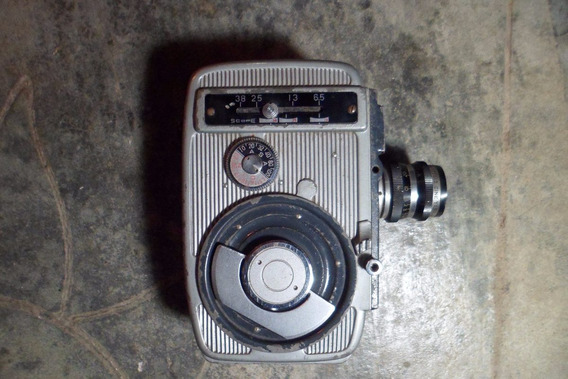 Filmadora 8 Mm Antiga Á Corda(não É Maquina Fotografica)