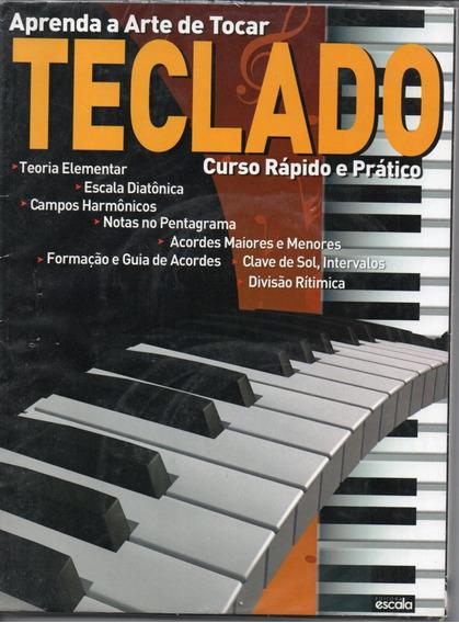 Curso Rápido E Prático Para Teclado - Revista + 3 Dvds