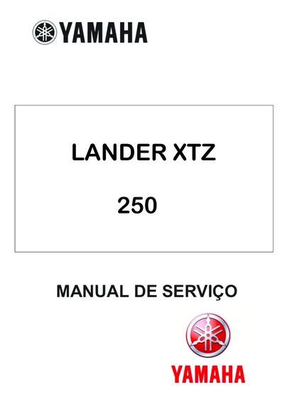 Manual De Serviço Moto Yamaha Lander Xtz 250 Em Pdf