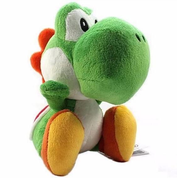 Pelúcia Yoshi Do Super Mario Bros Com 17cm Pronta Entrega