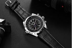 Relógio Jaragar Jar212, Masculino, Social Couro, Automático