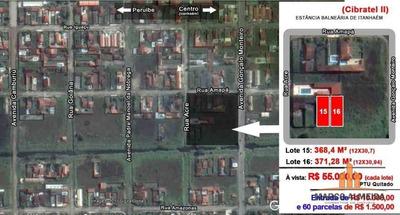 Terreno Residencial À Venda, Cibratel Ii, Itanhaém. - Te0044