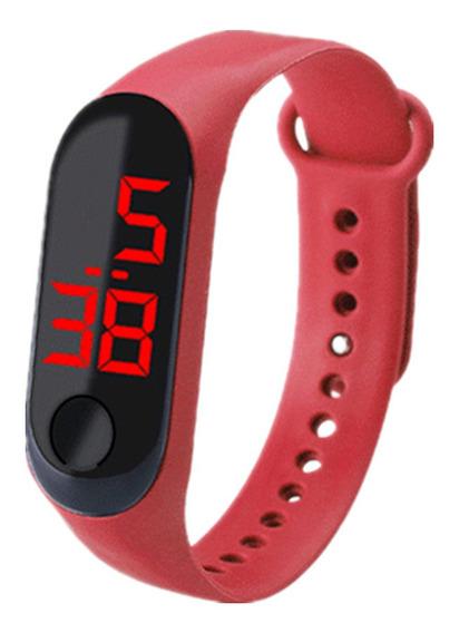 Relógio Digital Led Esporte Bracelete Adulto Infantil Barato