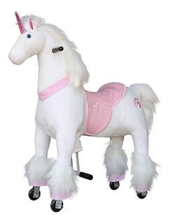 Caballito Pony Montable Unicornio Leon Caballo Ruedas Med
