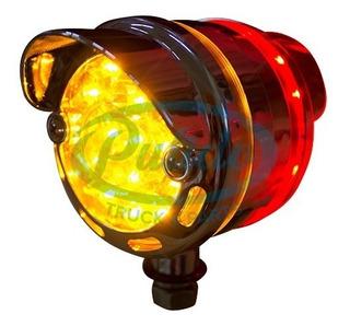 Luz Direccional Redonda 30 Led Roj-ambar C/vicera No.14876