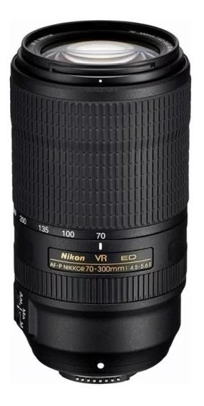 Lente Nikon Af-p 70-300mm F/4.5-5.6e Ed If Vr Formato Fx, Nf