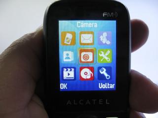 Celular Alcatel 316g Onetouch Fm Câmera Claro Funcionando