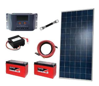 Kit Off Grid 2x Painel Solar 320w+ 2x Baterias 115ah+control