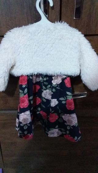 Conjuto De Bebe - Vestido E Blusa Peluda De Friu