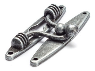 Fecho Mola Prata Velho Mdf Artesanato 5 Peças