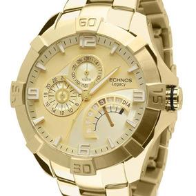 Relógio Technos Legacy Masculino Jr00ah/4x Dourado + Nota