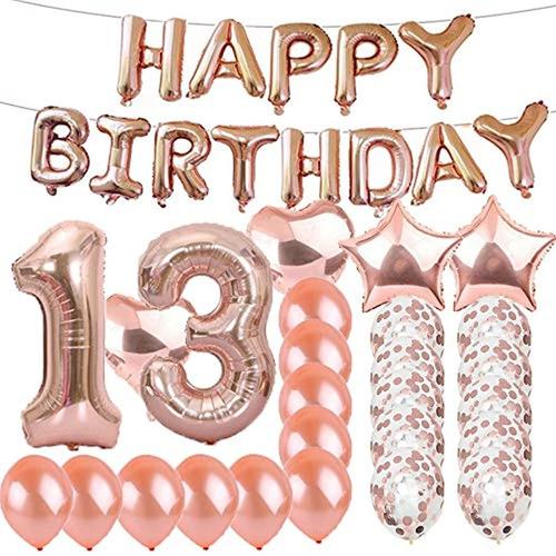 Dulce 13º Cumpleaños Decoraciones Suministros Para Fiestas