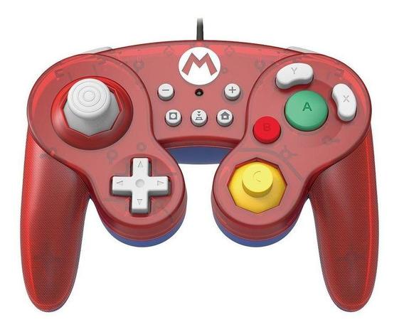Controle Gamecube Hori Mario Edição Super Mario Switch