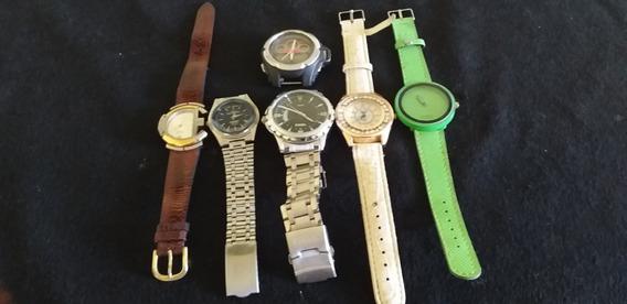 Lote 6 Relógio De Pulso Feminino-masculino