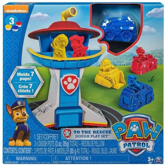 Brinquedo Massinha Patrulha Canina Playset Torre Comando