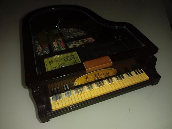 Porta Jóias Piano De Cauda Musical De Corda