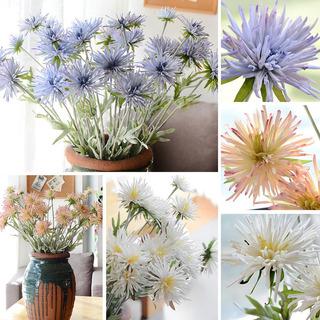 Planta De Maceta Artificial De Crisantemo De Garra De Cangre
