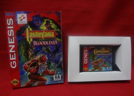 Castlevania Bloodlines Mega Drive + Caixa (paralelo Novo)
