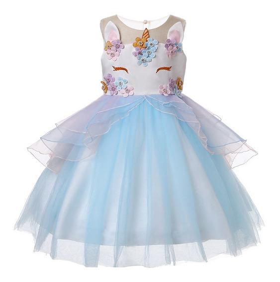 Vestido Unicornio Celeste