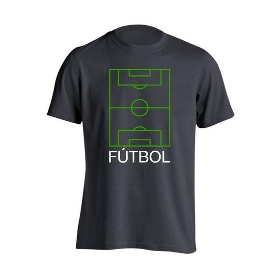Remera Niño Fútbol Frases Cancha