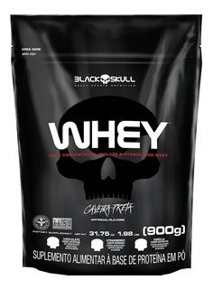Whey Refil 900g Concentrado Isolado Hidrolisado Black Skull