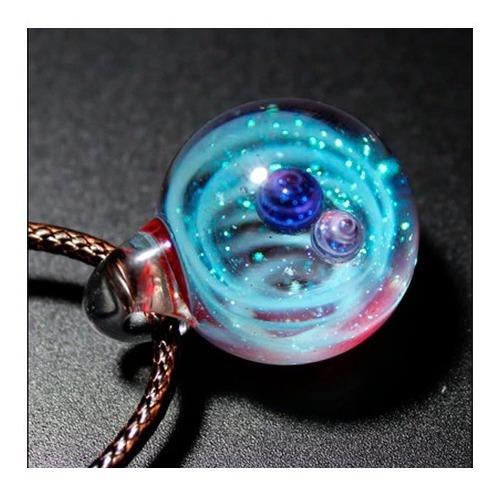 Collar De Nebulosa Galaxia Hecho A Mano Único Calidad