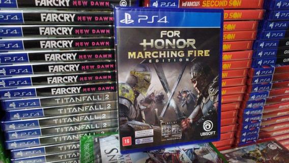 For Honor Marching Fire Português Ps4 Original Lacrado