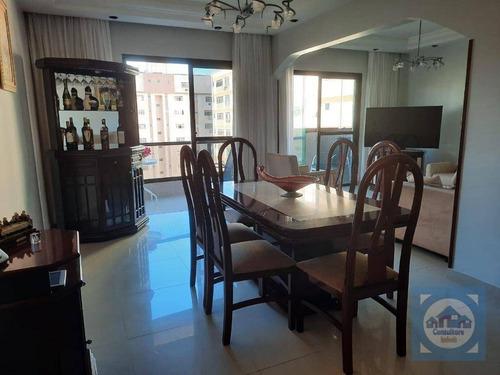Apartamento Com 3 Dormitórios À Venda, 160 M² Por R$ 1.600.000 - Pompéia - Santos/sp - Ap5926
