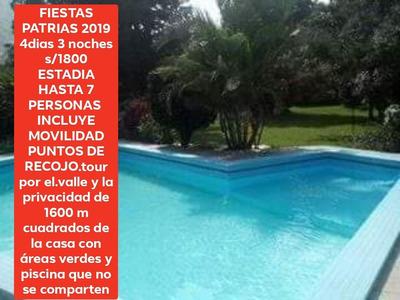 Alquilo Casa En Cieneguilla Firstas Patrias 2019 S/1800