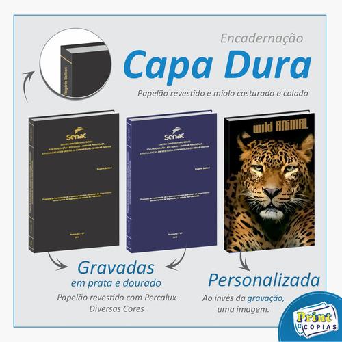 Encadernação Capa Dura Tcc E Monografias