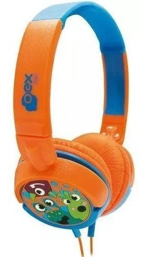 Fone Headphone Boo Oex Infantil Laranja/azul - Hp301
