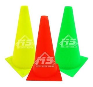 Conos De Seguridad Vial Neon 26cm Señalamiento Deportivo