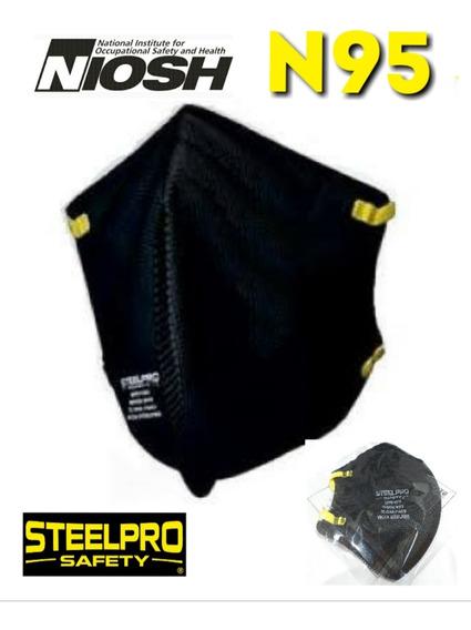 Mascarilla N95 Negra Individual Por Unidad Marca Steelpro