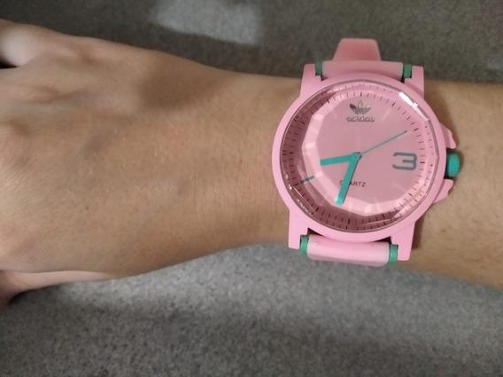 Relógio Branco Rosa Preto Marrom Color Colorido Casual Sport