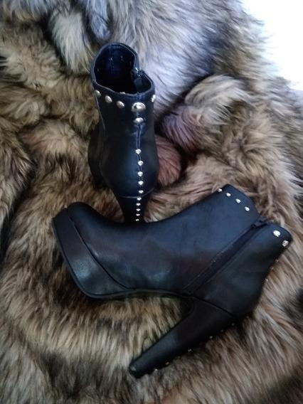 Botas Zapatos De Cuero Legítimo Dama